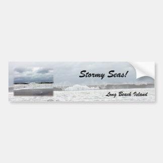 Stormy Seas of the Atlantic Ocean Car Bumper Sticker