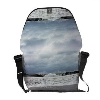 Stormy Seas of the Atlantic Ocean Messenger Bag
