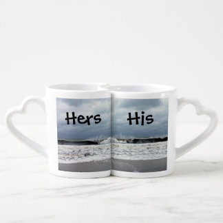 Stormy Seas of the Atlantic Ocean Lovers Mugs