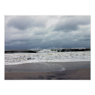 Stormy Seas of the Atlantic Ocean Poster