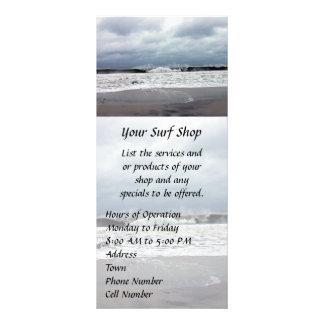 Stormy Seas of the Atlantic Ocean Rack Card Design