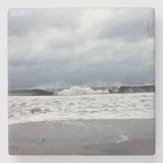 Stormy Seas of the Atlantic Ocean Stone Coaster