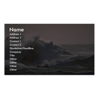 Stormy seas off Fair Isle Double-Sided Standard Business Cards (Pack Of 100)