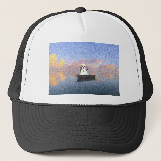 stormy seas trucker hat