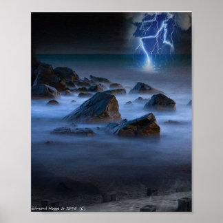 Stormy Seashore Poster