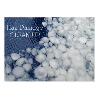 Stormy Seasonal Hail Damage Clean Up Large Business Cards (Pack Of 100)