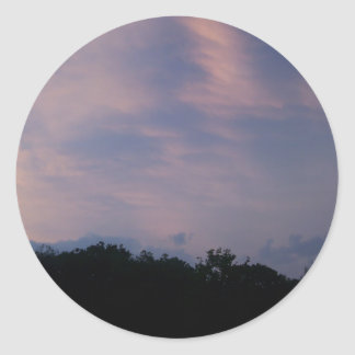 Stormy Skies Classic Round Sticker