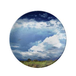 Stormy Skies Porcelain Plate