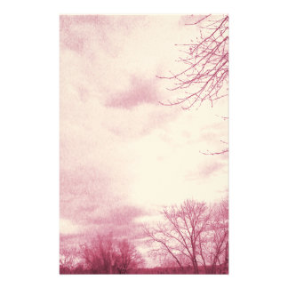Stormy Skies Mauve Stationery