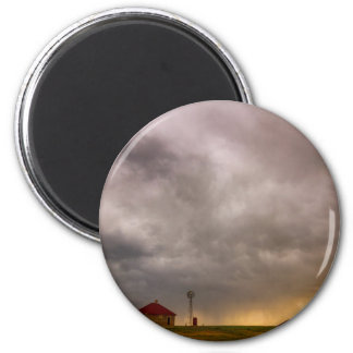 Stormy Skies On The Colorado Plains 2 Inch Round Magnet