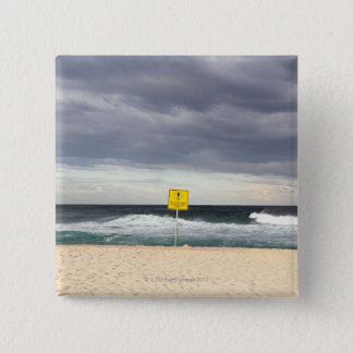 Stormy skies over Bronte Beach Pinback Button