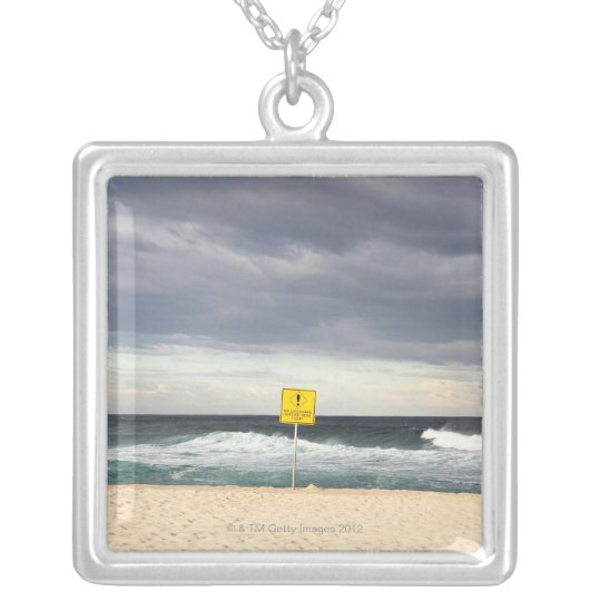 Stormy skies over Bronte Beach Silver Plated Necklace