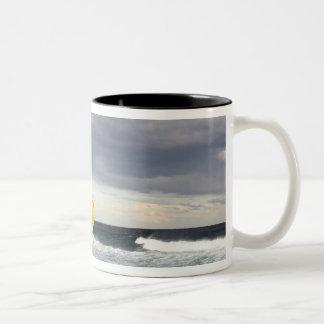 Stormy skies over Bronte Beach Two-Tone Coffee Mug