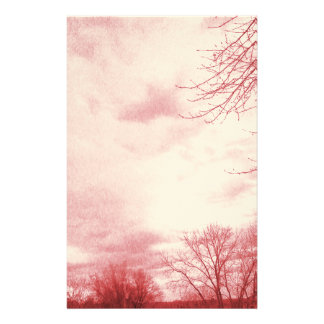 Stormy Skies Red Stationery