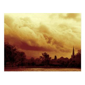 Stormy Skies, River Avon, Stratford-upon-Avon Postcard