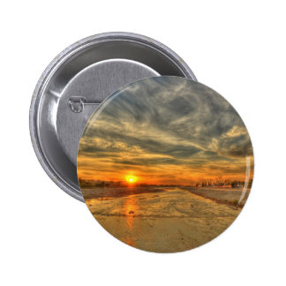 Stormy Skies with Sunset Pinback Button