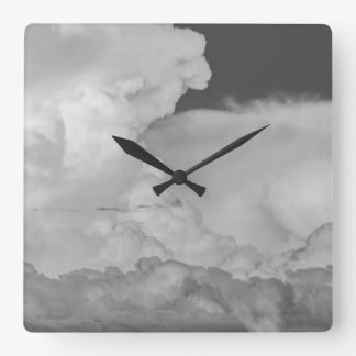 Stormy Sky Square Wall Clock