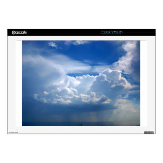 "Stormy sky with clouds 17"" laptop skins"