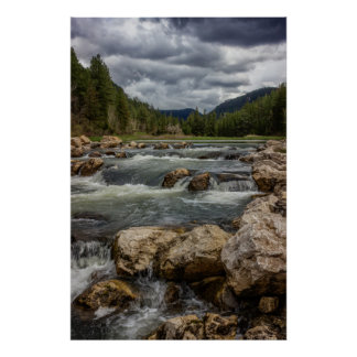 Stormy Spearfish Creek Poster