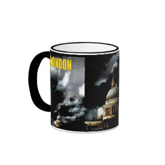 Stormy St Paul's Cathedral Ringer Coffee Mug