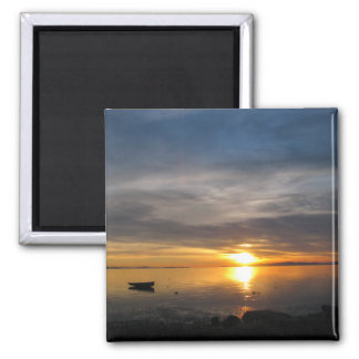 Stormy Sunset 2 Inch Square Magnet