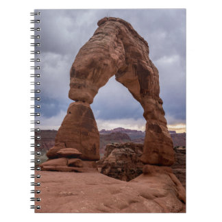 Stormy Sunset - Delicate Arch - Moab - Utah Notebook