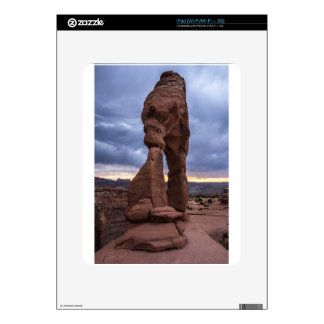 Stormy Sunset - Delicate Arch - Moab - Utah Skins For The iPad