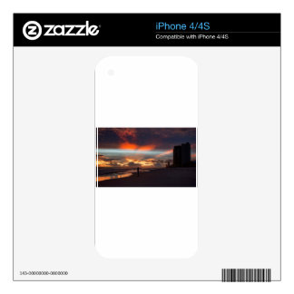 Stormy Sunset iPhone 4 Decal