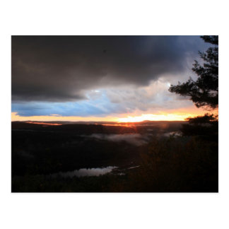 Stormy Sunset, Jacobs Hill, Tully River, Royalston Postcard