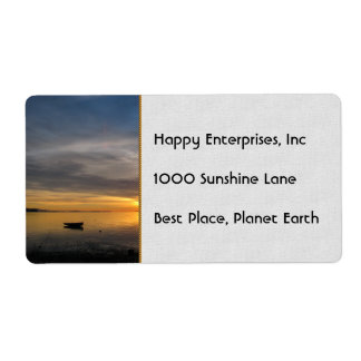 Stormy Sunset Shipping Label