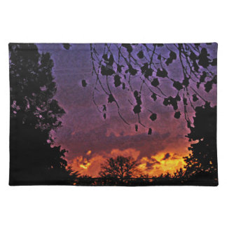 stormy sunset placemat