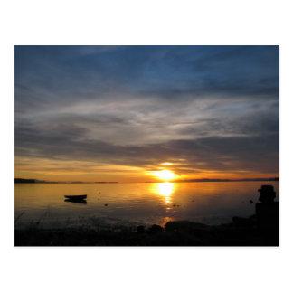 Stormy Sunset Postcard