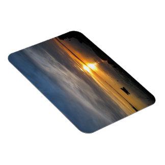 Stormy Sunset Rectangular Photo Magnet