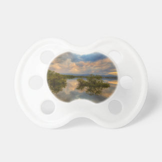 Stormy Sunset Reflections Pacifier