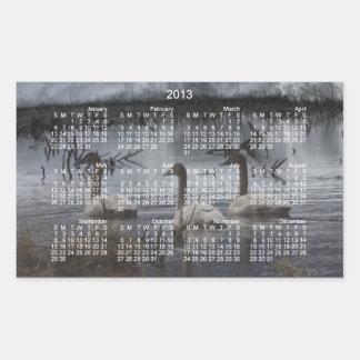 Stormy Swans; 2013 Calendar Rectangular Sticker
