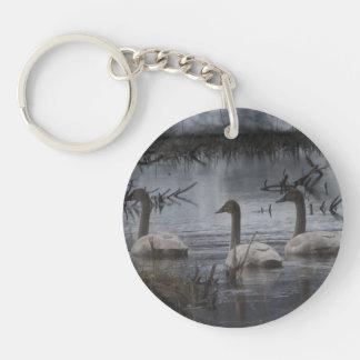 Stormy Swans Keychain