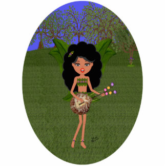 Stormy the Green Winged Faery  with a Guitar Cutout
