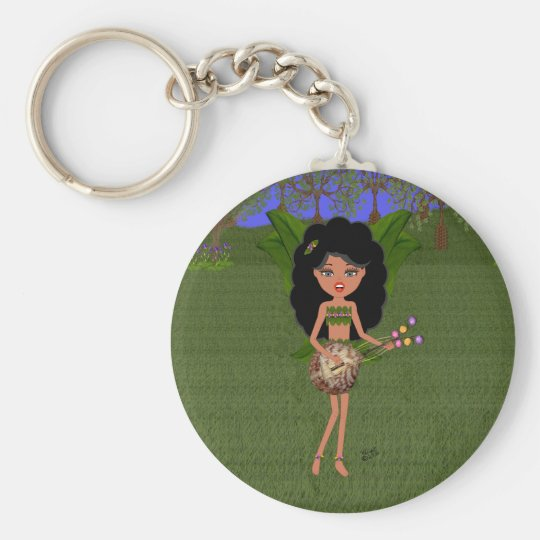 Stormy the Green Winged Faery  with a Guitar Keychain