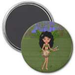 Stormy the Green Winged Faery  with a Guitar Magnets