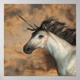 Stormy Unicorn Poster