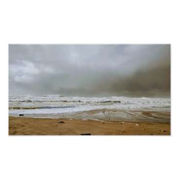 Art Themed Stormy View at Oregon Coast Poster