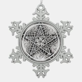 "Stormy Vines ""Silver"" Snowflake Ornament"