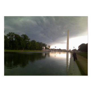 Stormy Washington DC day Business Card Template