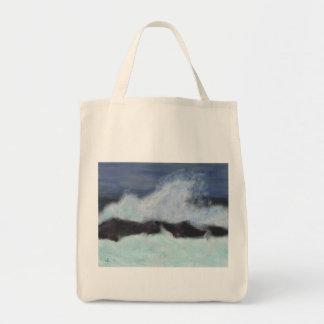 Stormy Waters Art Tote Bag