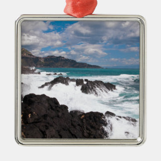 Stormy wave course - island Sicily Metal Ornament