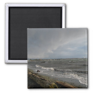 Stormy Weather 2 Inch Square Magnet