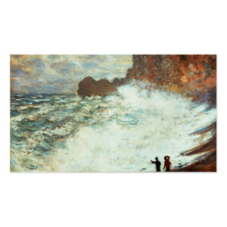 Stormy Weather a Etretat, Rough Sea - Claude Monet Business Card