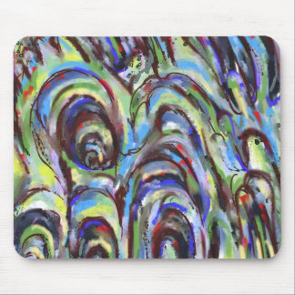 Stormy Weather Abstraction Mouse Pad