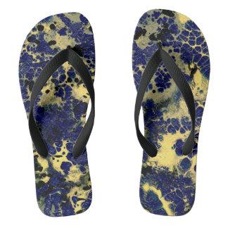 STORMY WEATHER (an abstract art design) ~.jpg Flip Flops