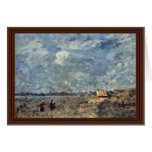 Stormy Weather. Banks Of The Pas-De-Calais By Coro Greeting Card
